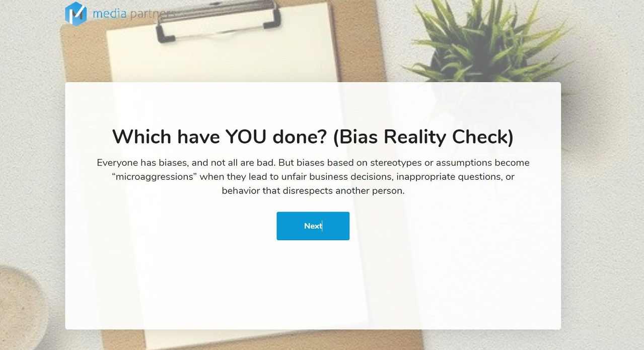 Which have YOU Done?  (Bias Reality Check)